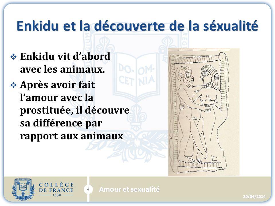 Lamour entre les dieux et les hommes Le Dieu Ptha Et le Pharaon Sésostris 20/04/2014 15 Amour et sexualité