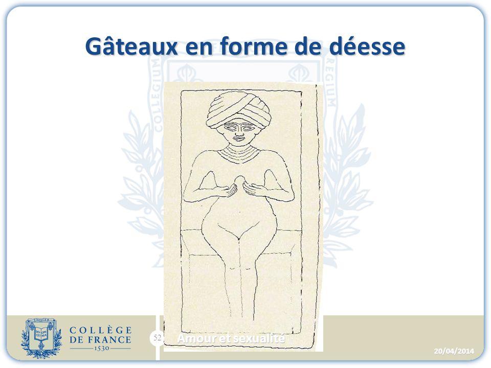Gâteaux en forme de déesse 20/04/2014 52 Amour et sexualité