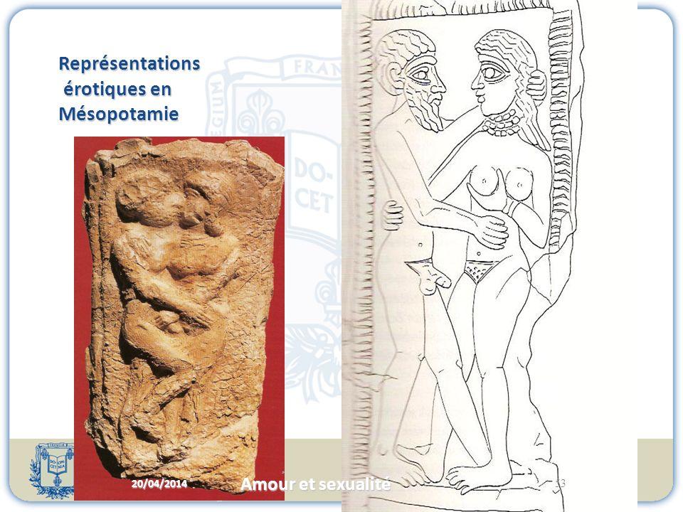 Représentations érotiques en Mésopotamie 20/04/2014 53 Amour et sexualité