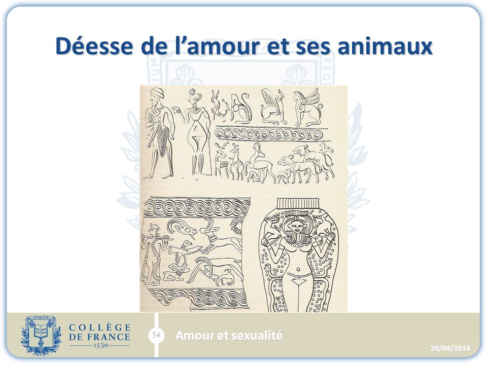 Déesse de lamour et ses animaux 20/04/2014 54 Amour et sexualité