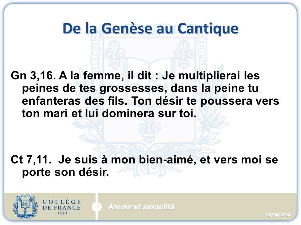 De la Genèse au Cantique Gn 3,16.