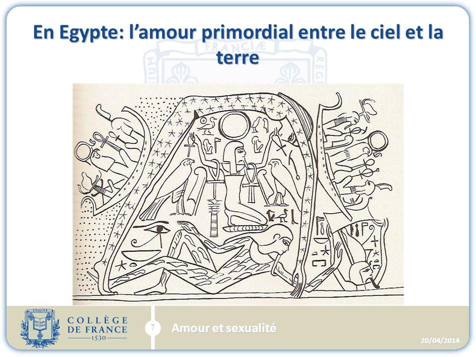 En Egypte: lamour primordial entre le ciel et la terre 20/04/2014 7 Amour et sexualité