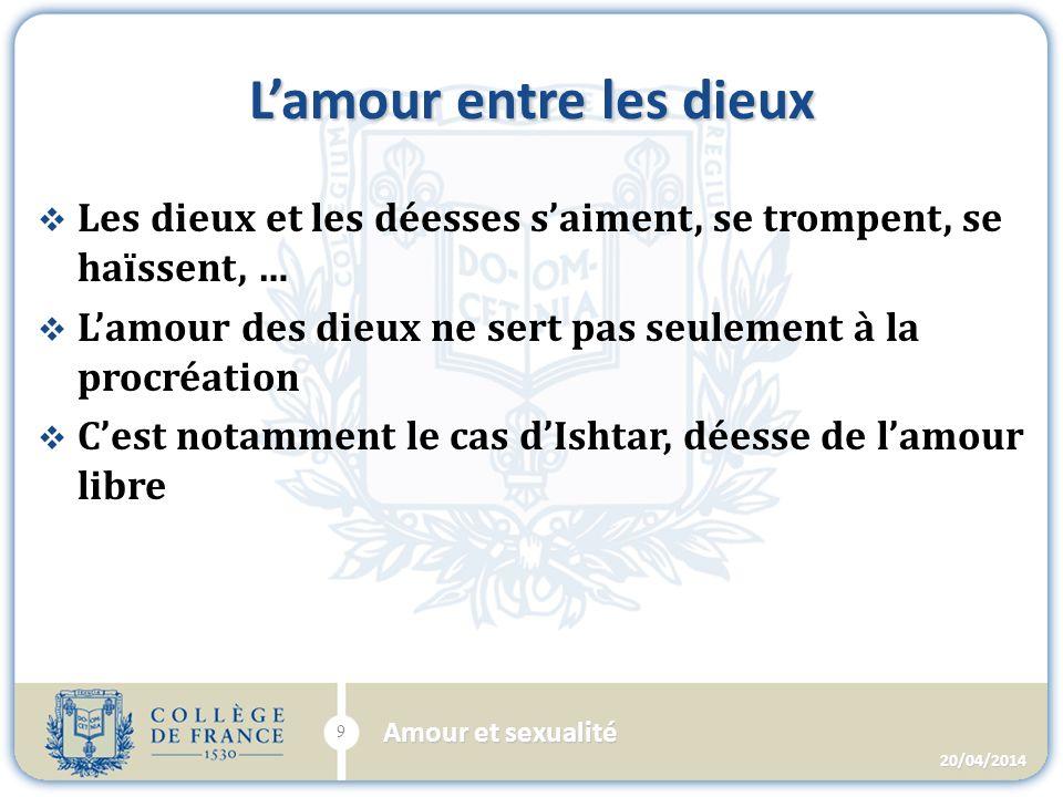 La déesse Ishtar 20/04/2014 10 Amour et sexualité