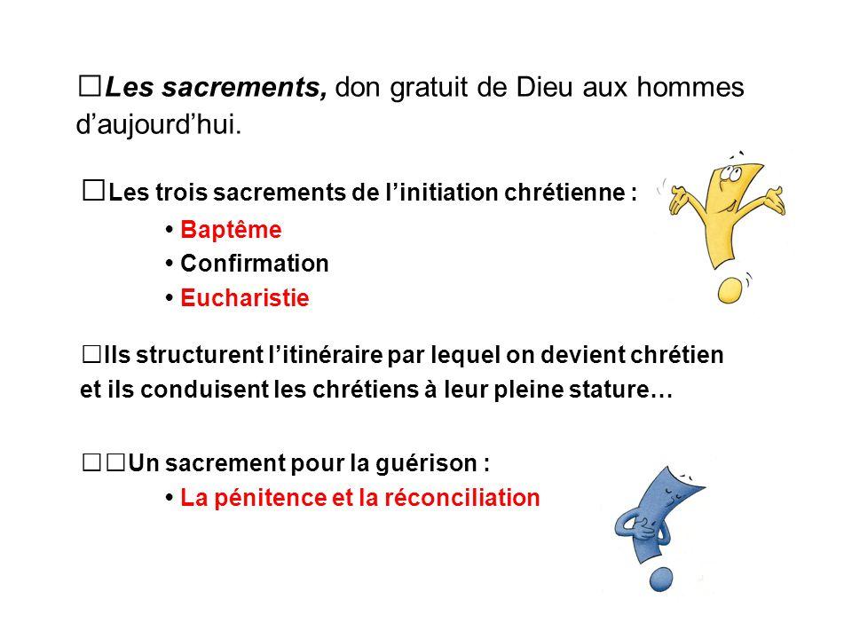 Les sacrements, don gratuit de Dieu aux hommes daujourdhui.