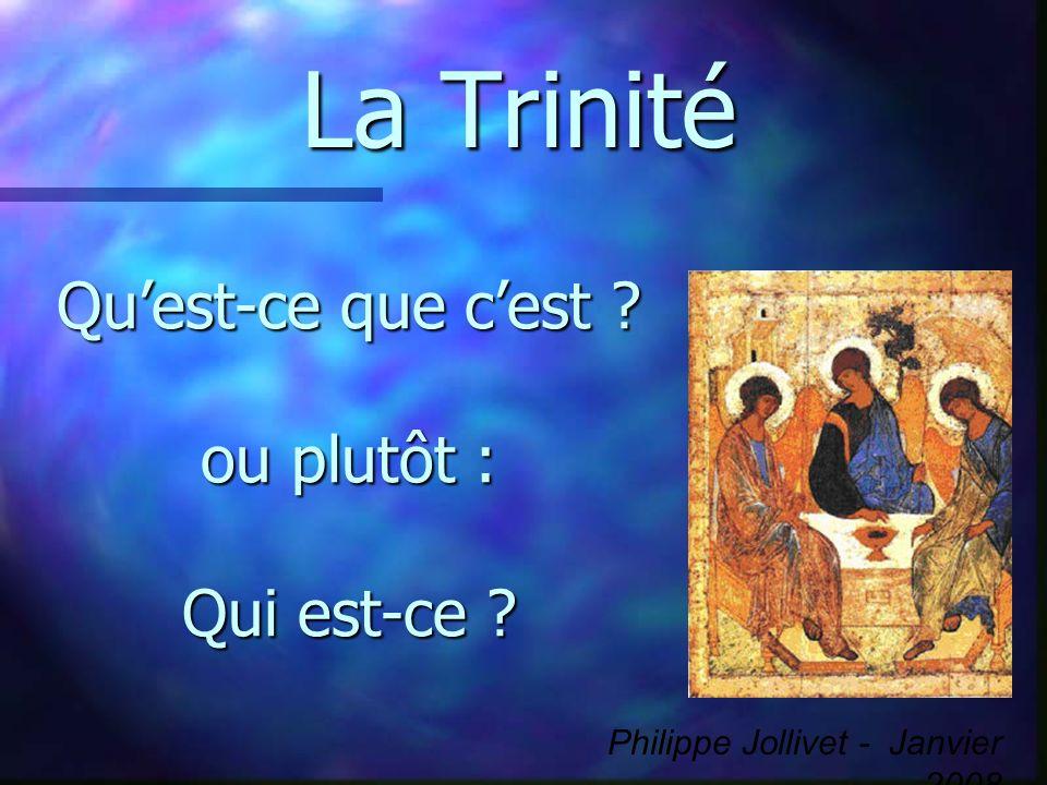 La Trinité Quest-ce que cest ? ou plutôt : Qui est-ce ? Philippe Jollivet - Janvier 2008