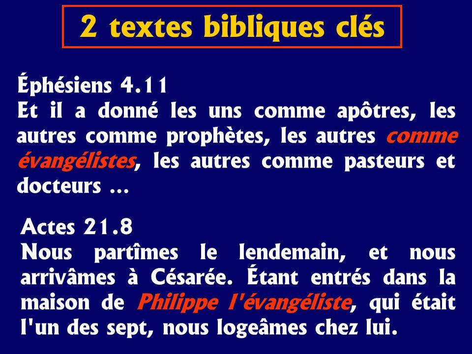 Éphésiens 4.11 Et il a donné les uns comme apôtres, les autres comme prophètes, les autres comme évangélistes, les autres comme pasteurs et docteurs …