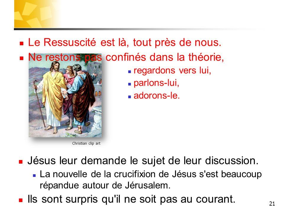 21 Christian clip art Le Ressuscité est là, tout près de nous.