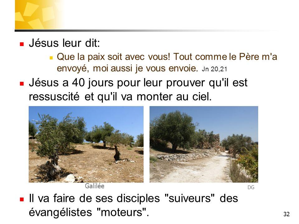 32 Jésus leur dit: Que la paix soit avec vous.