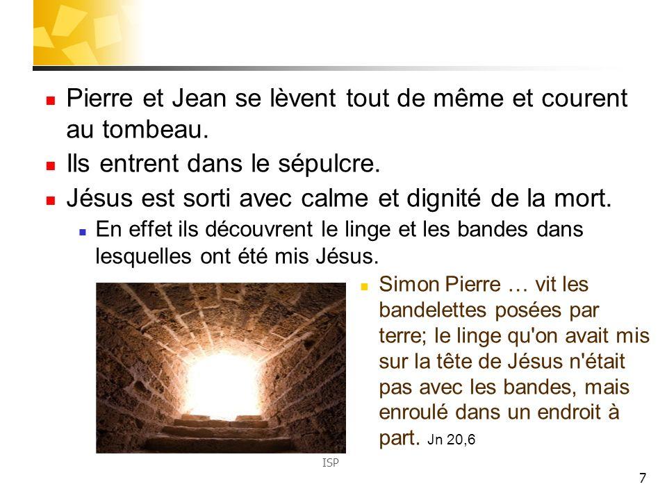 7 Pierre et Jean se lèvent tout de même et courent au tombeau.