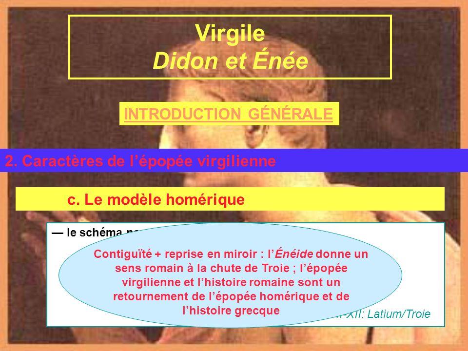 INTRODUCTION GÉNÉRALE Virgile et lÉnéide B. LÉnéide 2. Caractères de lépopée virgilienne Virgile Didon et Énée Paul-Augustin Deproost Virgile, Didon e