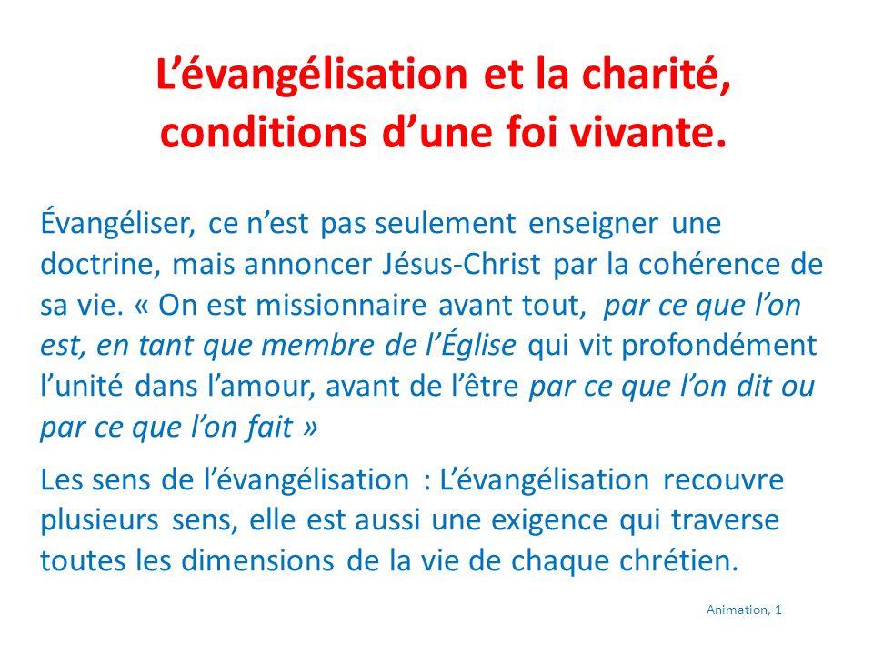 Questionnaire proposé Parmi toutes les dimensions de lévangélisation quelle est celle qui me touche le plus .