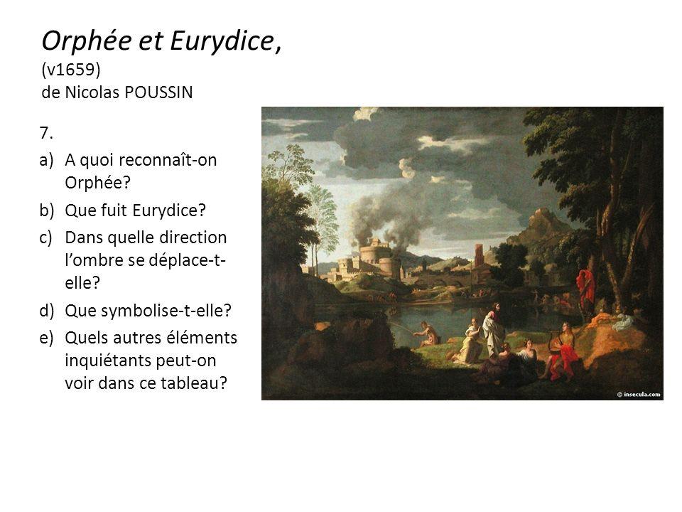 Orphée et Eurydice, (v1659) de Nicolas POUSSIN 7. a)A quoi reconnaît-on Orphée.