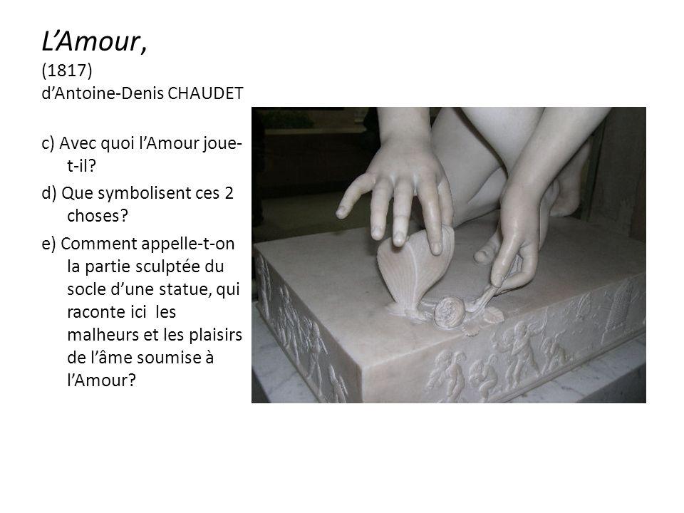 LAmour, (1817) dAntoine-Denis CHAUDET c) Avec quoi lAmour joue- t-il.