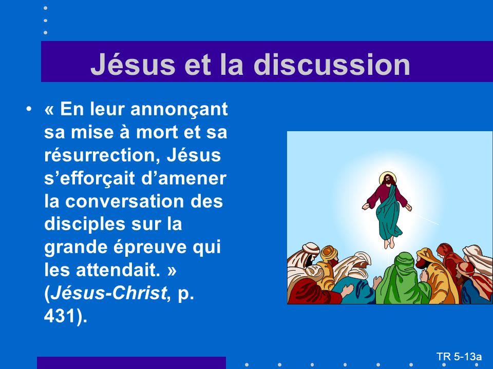 « En leur annonçant sa mise à mort et sa résurrection, Jésus sefforçait damener la conversation des disciples sur la grande épreuve qui les attendait.
