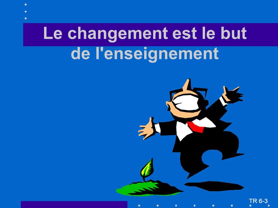 Le changement est le but de l'enseignement TR 6-3