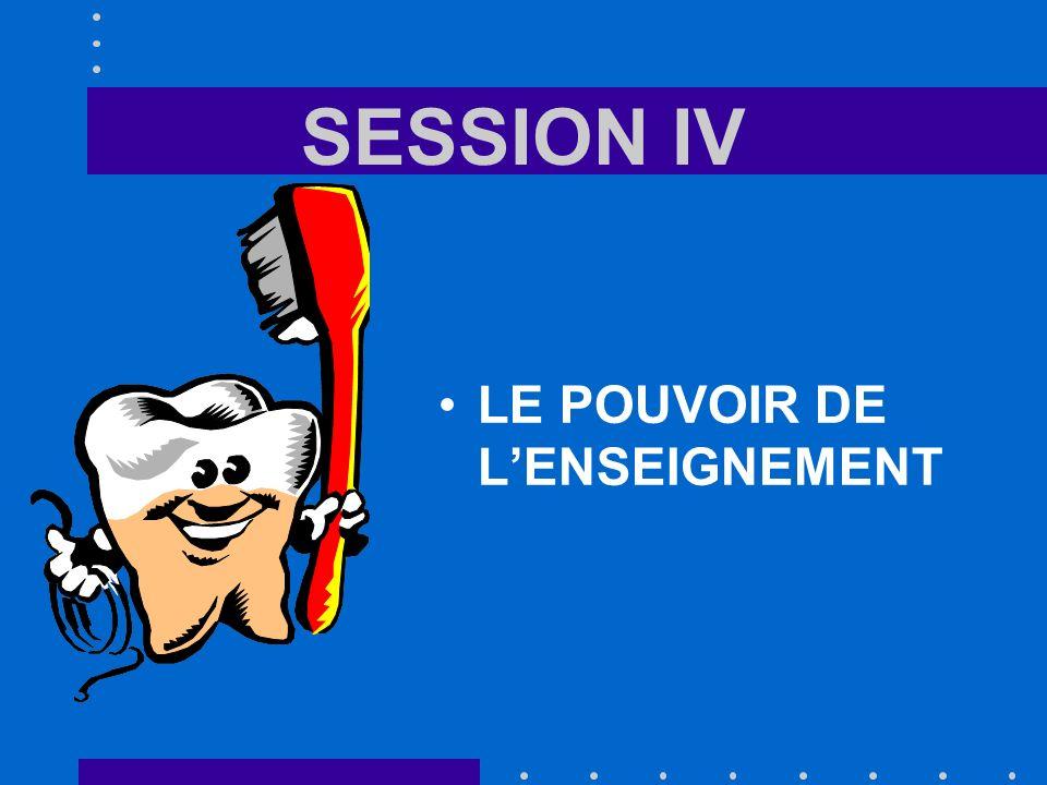 SESSION IV LE POUVOIR DE LENSEIGNEMENT