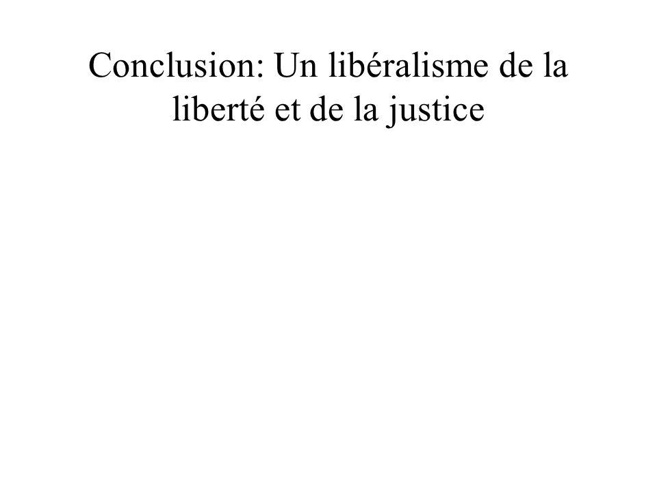 Conclusion: Un libéralisme de la liberté et de la justice