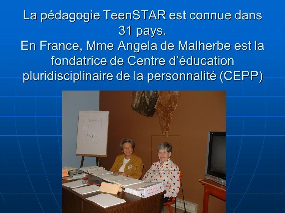 La pédagogie TeenSTAR est connue dans 31 pays.