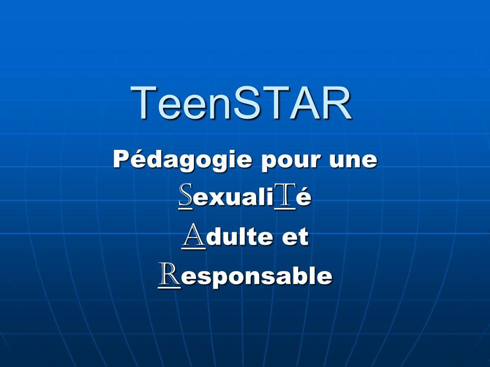 TeenSTAR Pédagogie pour une S exuali t é A dulte et R esponsable