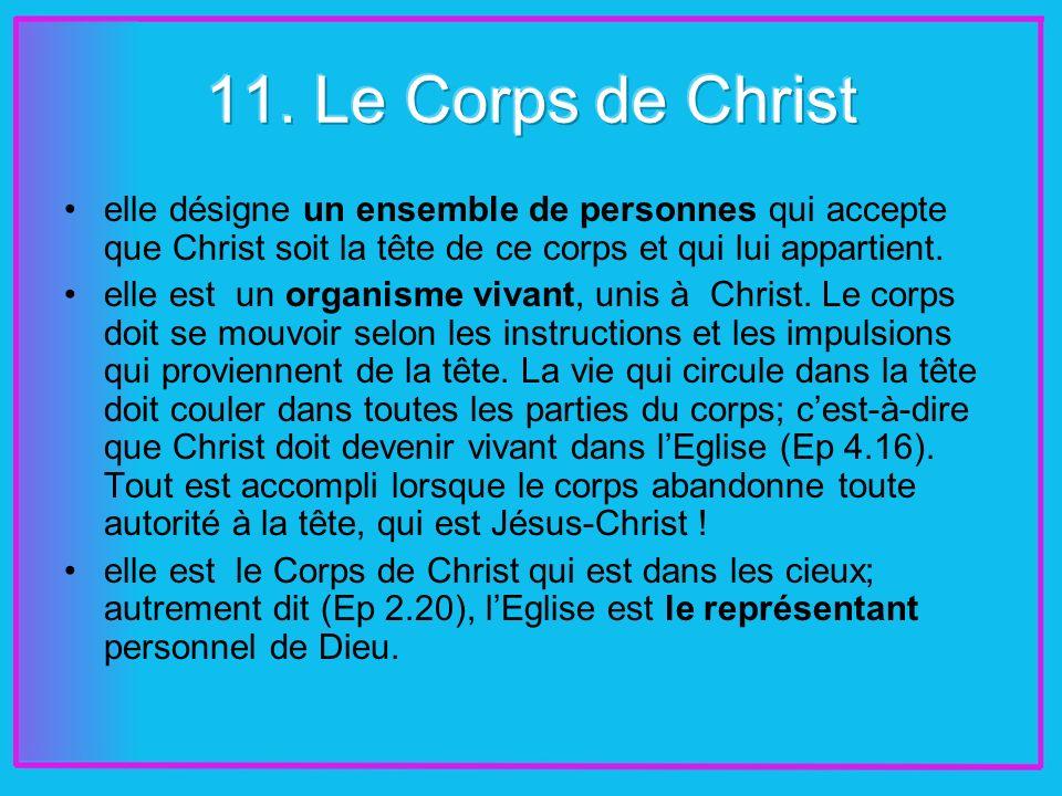 elle désigne un ensemble de personnes qui accepte que Christ soit la tête de ce corps et qui lui appartient.