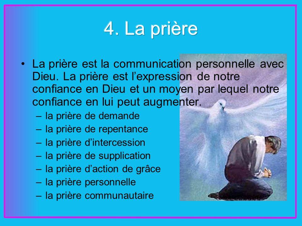 La prière est la communication personnelle avec Dieu.