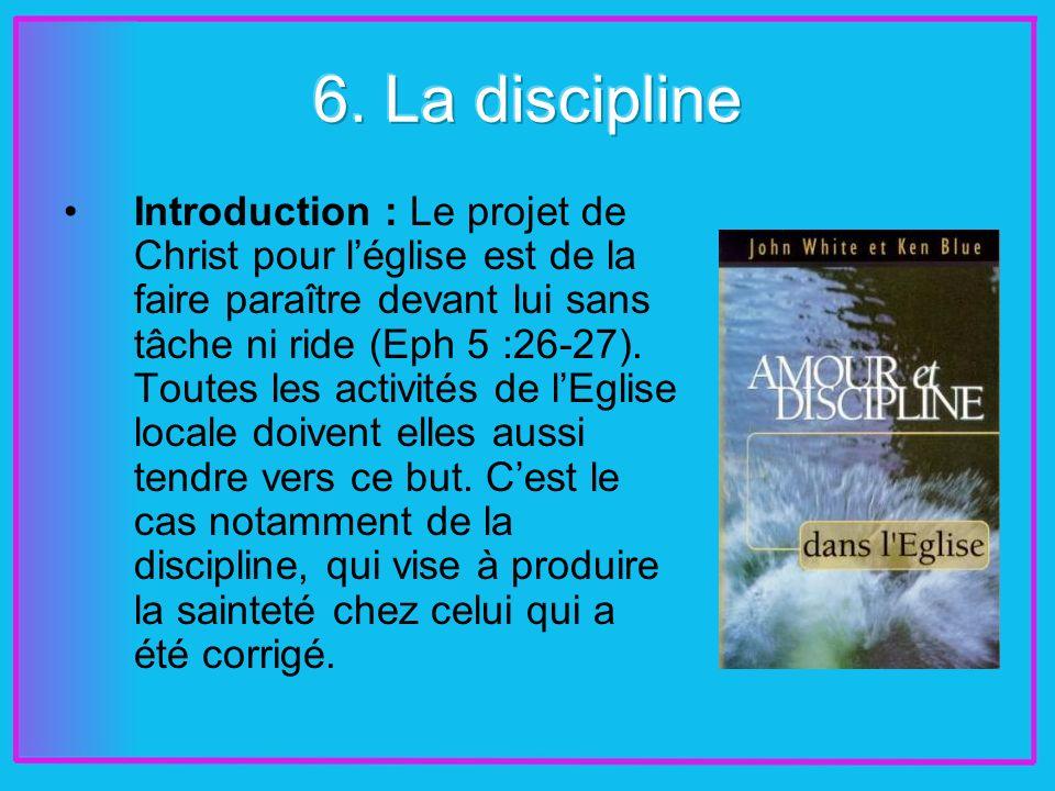 Introduction : Le projet de Christ pour léglise est de la faire paraître devant lui sans tâche ni ride (Eph 5 :26-27).
