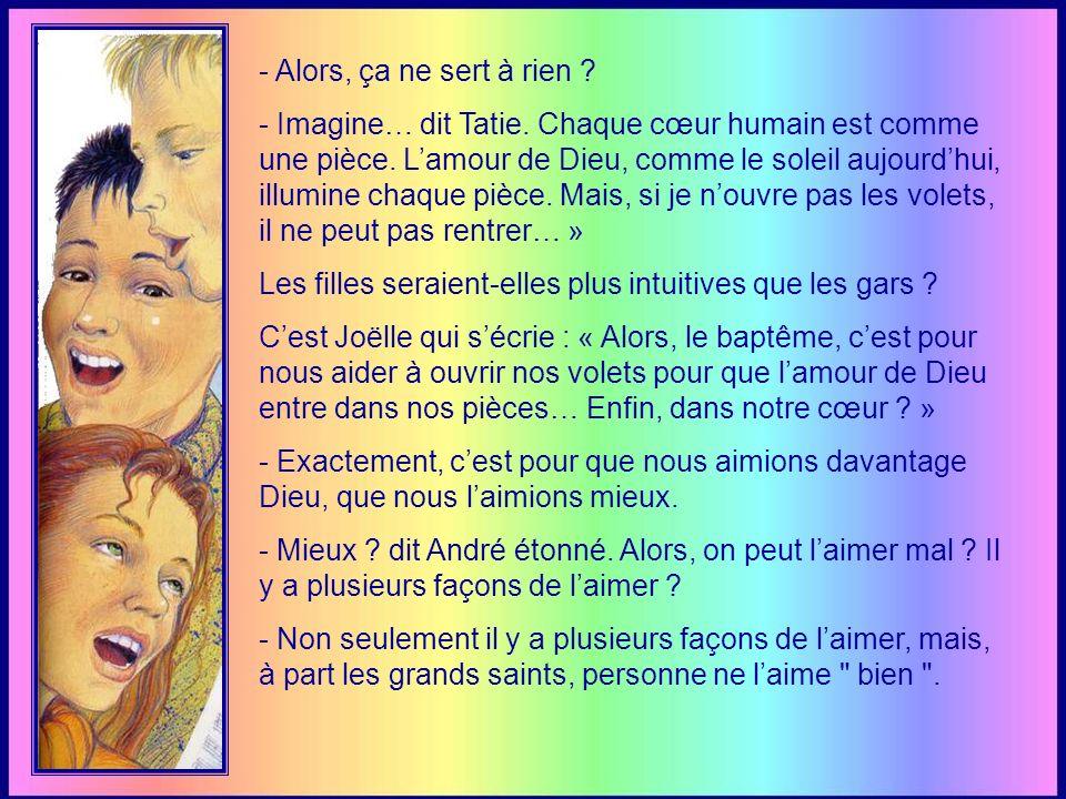- Le prêtre nous a bénis « au nom du Père, du Fils et du Saint- Esprit ».