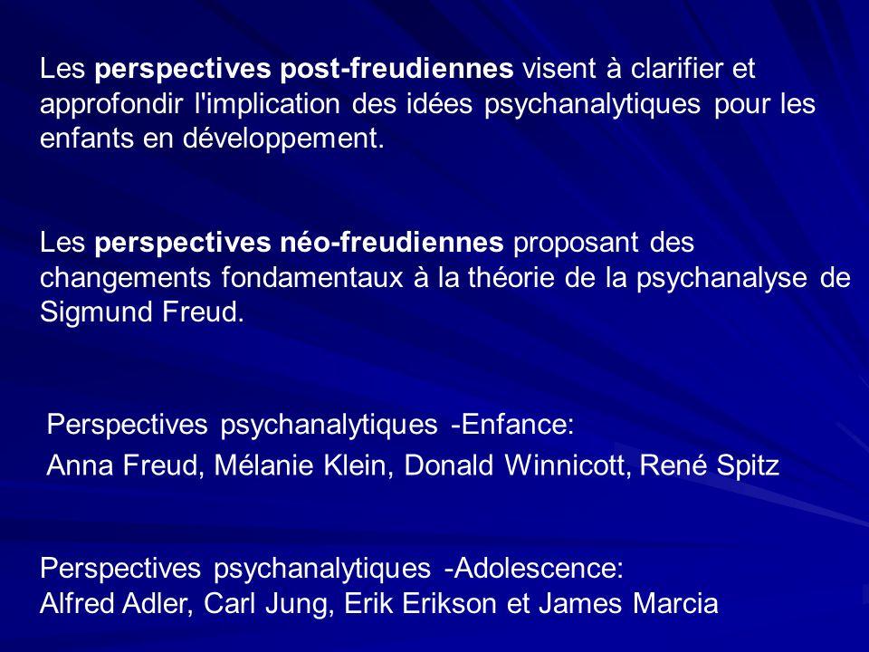 Les perspectives post-freudiennes visent à clarifier et approfondir l implication des idées psychanalytiques pour les enfants en développement.
