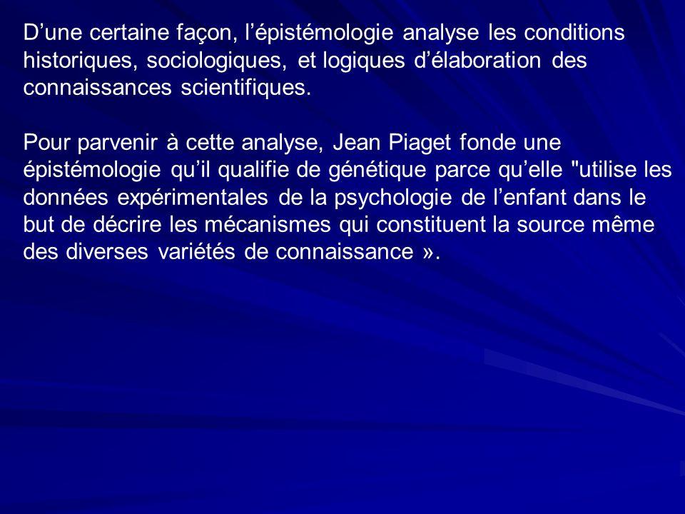 Dune certaine façon, lépistémologie analyse les conditions historiques, sociologiques, et logiques délaboration des connaissances scientifiques.