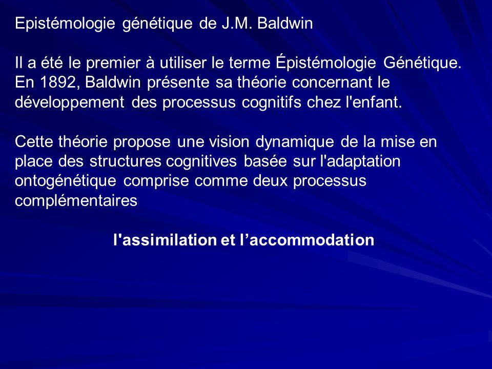 Epistémologie génétique de J.M.