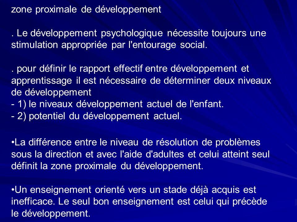 zone proximale de développement.