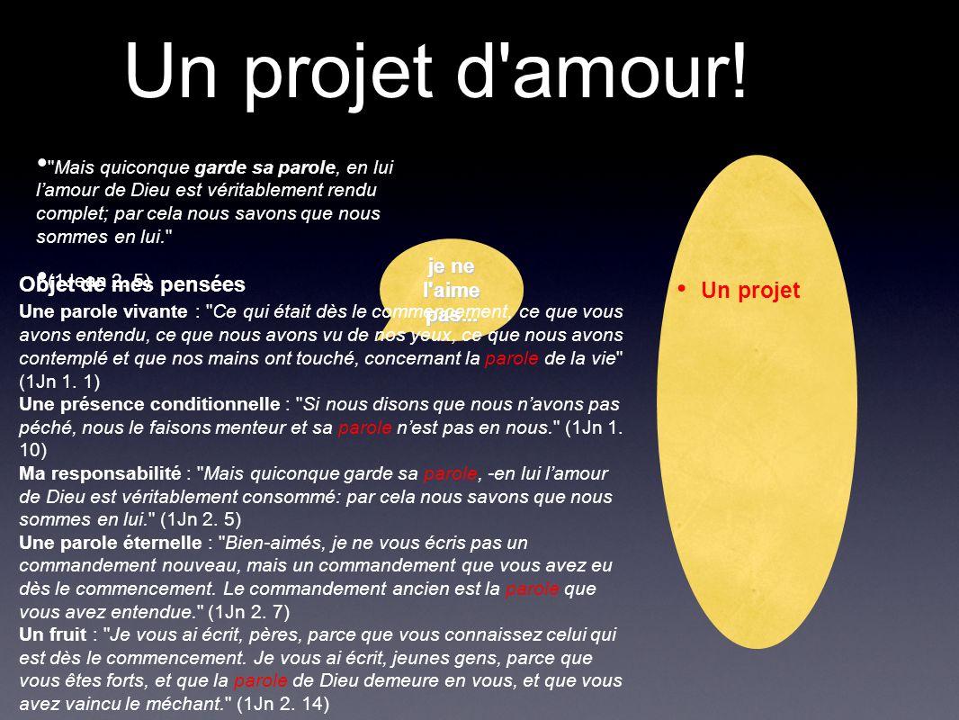 Un projet d'amour!