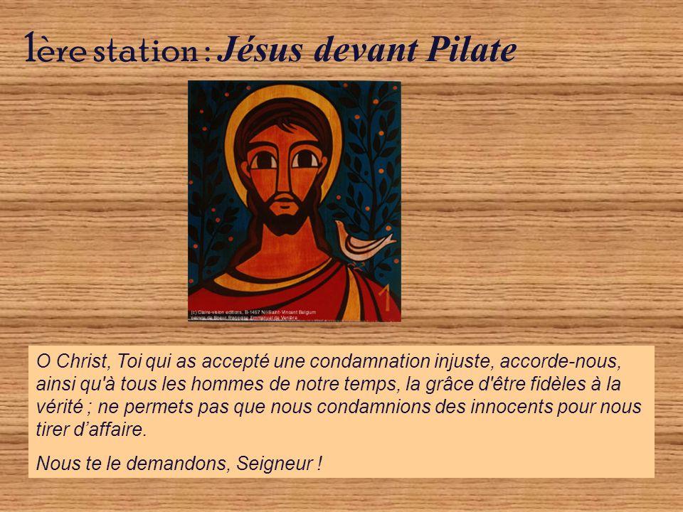 7ème station : Jésus tombe pour la deuxième fois