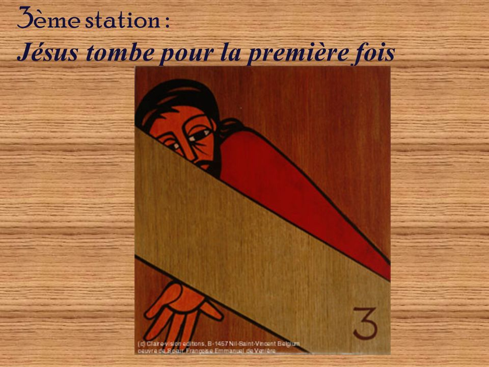3ème station : Jésus tombe pour la première fois
