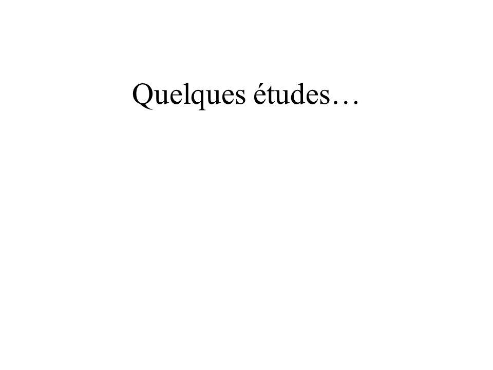 Quelques études…