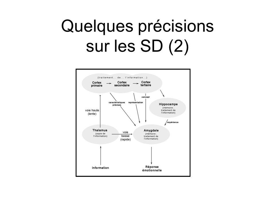 Quelques précisions sur les SD (2)