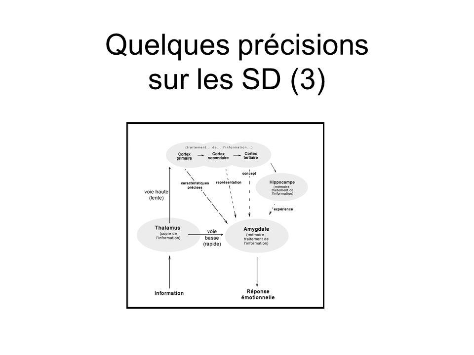 Quelques précisions sur les SD (3)