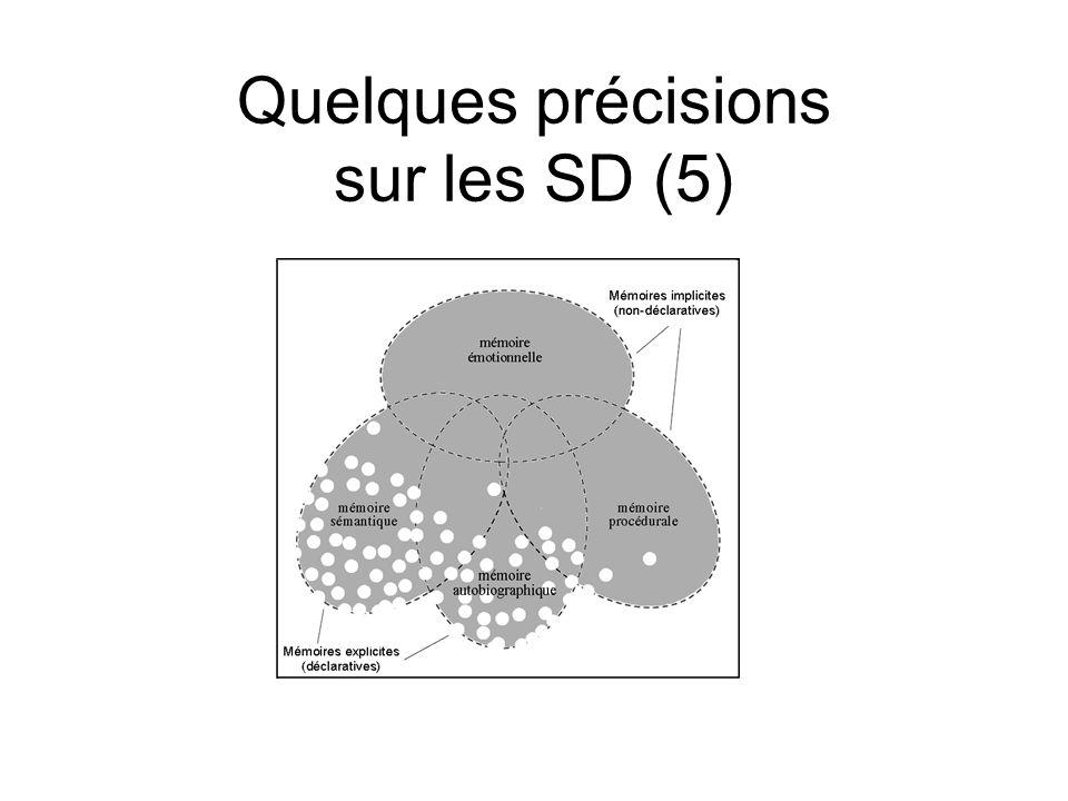 Quelques précisions sur les SD (5)