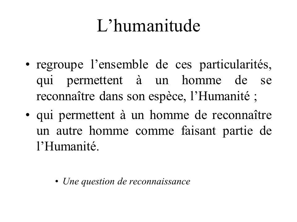 La mise en humanitude par la parole Ton : doux, mélodieux, calme Paroles : damour, de tendresse, sons et mots positifs, etc.