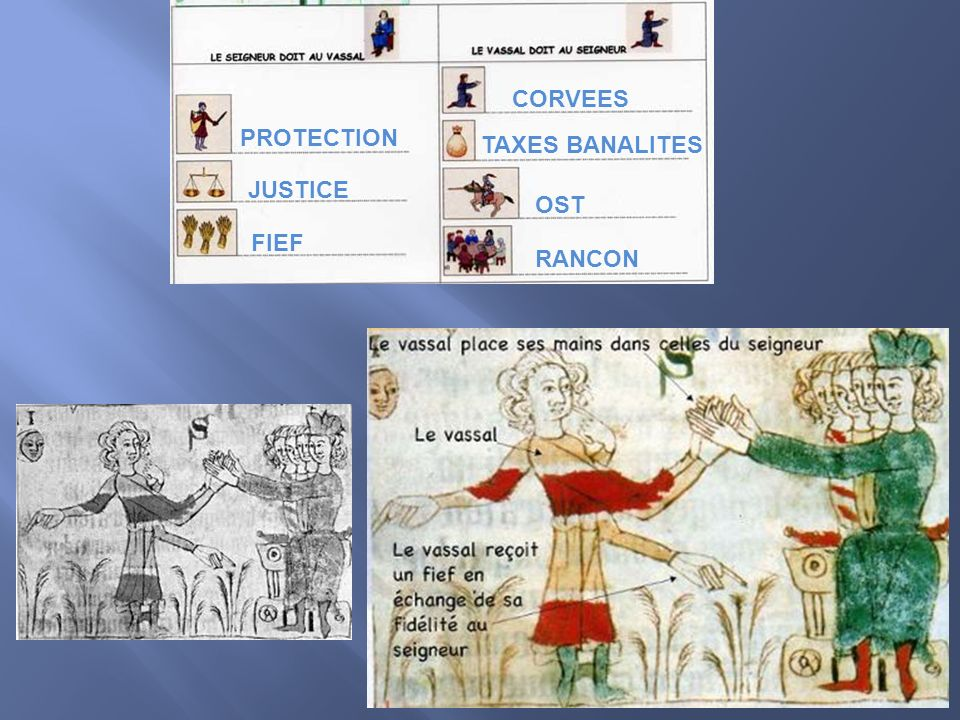 PROTECTION JUSTICE FIEF OST CORVEES TAXES BANALITES RANCON