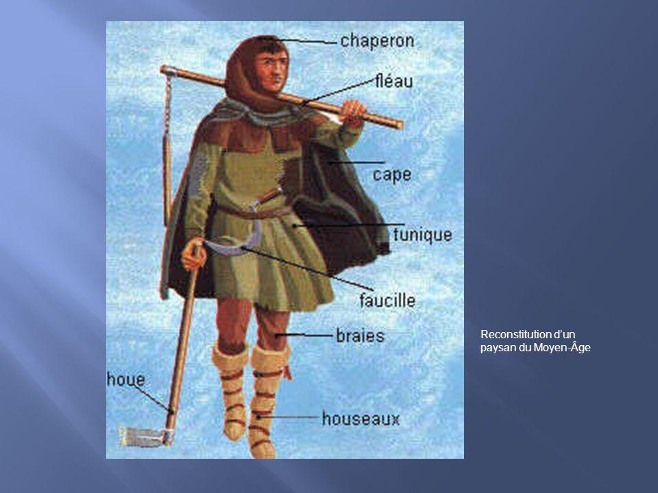 Reconstitution dun paysan du Moyen-Âge