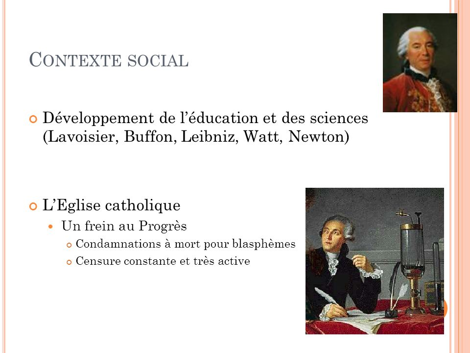 DENIS DIDEROT (1713-1784) 1762 : Catherine II de Russie aide Diderot et linvite à la Cour 1773-1774 : à la cour de Russie 1774-1784 : sa santé se dégrade 1784 : Meurt à Paris