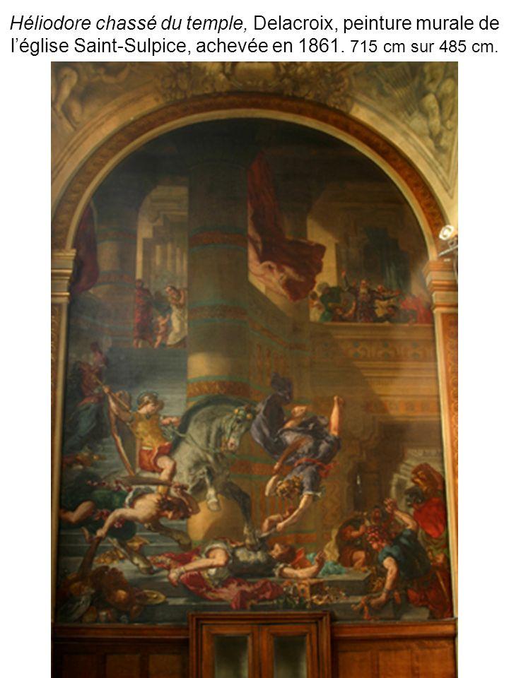 Héliodore chassé du temple, Delacroix, peinture murale de léglise Saint-Sulpice, achevée en 1861.