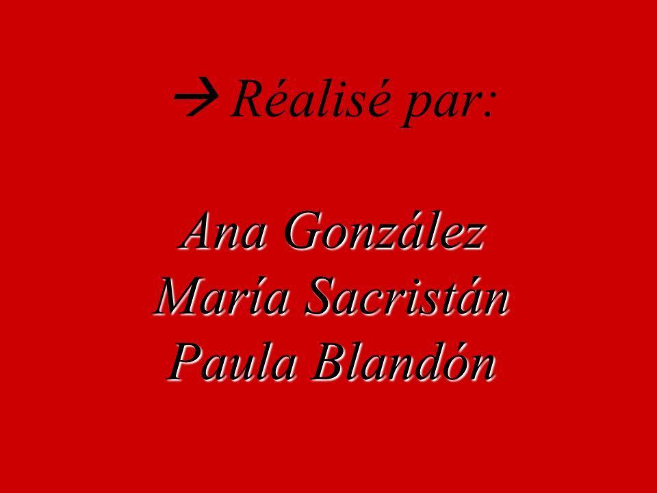 Réalisé par: Ana González María Sacristán Paula Blandón