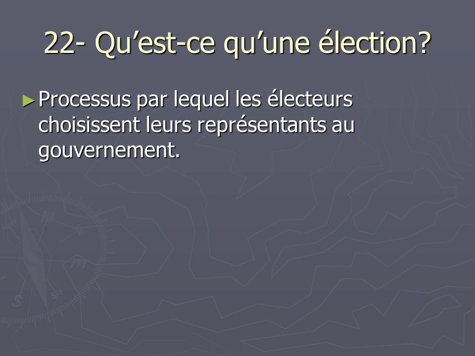 22- Quest-ce quune élection.