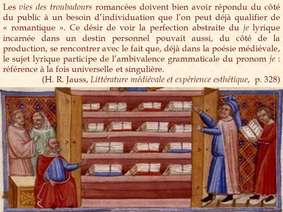 Jaufré Rudel BdT 262.2 (IV), 22-28: Be·m parra jois quan li querrai, per amor Dieu, lalberc de lonh : e, sa lieis platz, alberguarai pres de lieis, si be·m sui de lonh.