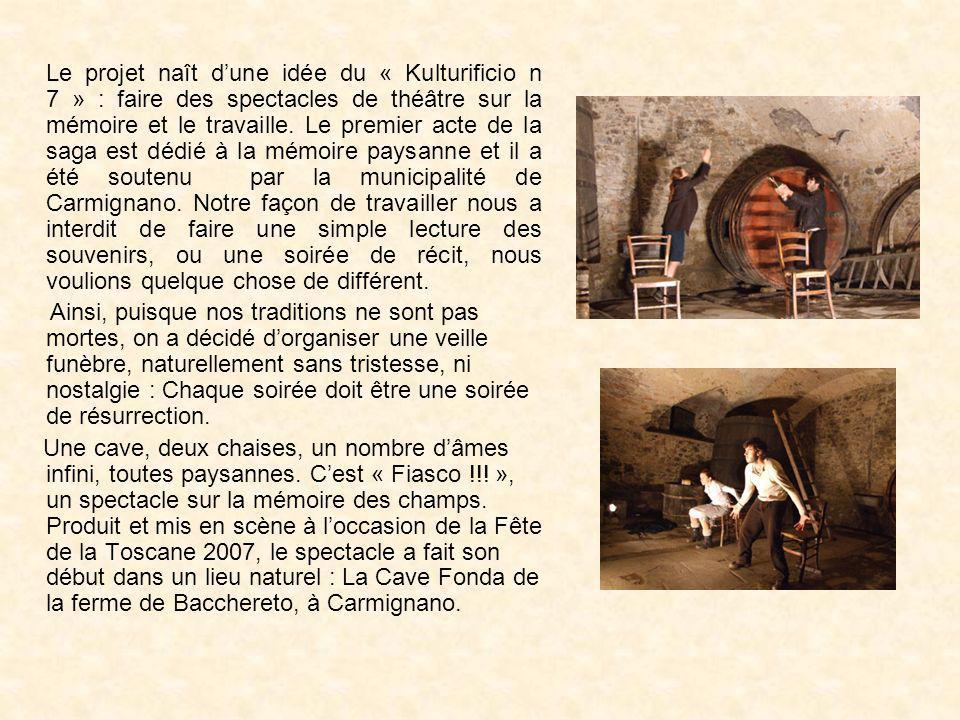 Le projet naît dune idée du « Kulturificio n 7 » : faire des spectacles de théâtre sur la mémoire et le travaille. Le premier acte de la saga est dédi
