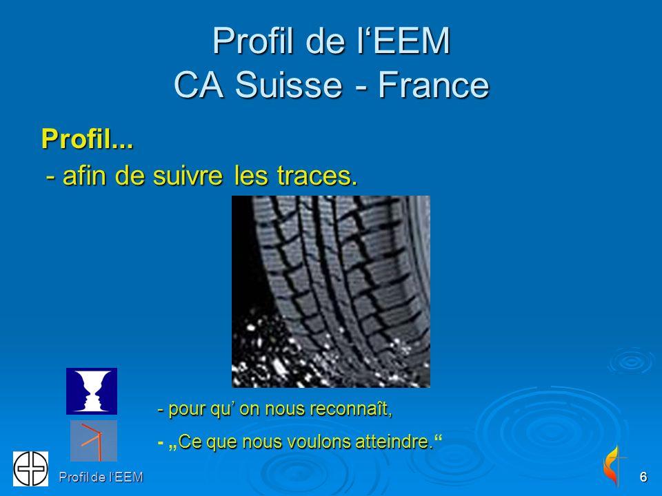 Profil de lEEM6 Profil de lEEM CA Suisse - France Profil... - pour qu on nous reconnaît, - pour qu on nous reconnaît, Ce que nous voulons atteindre. -