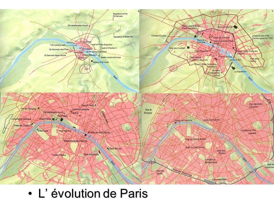 L évolution de ParisL évolution de Paris