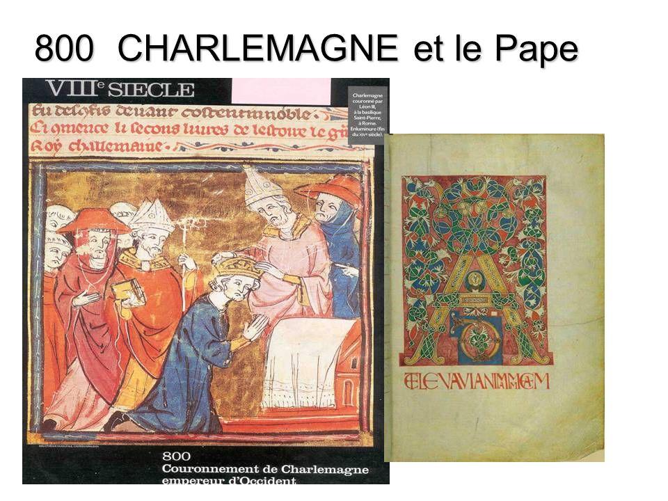 800 CHARLEMAGNE et le Pape
